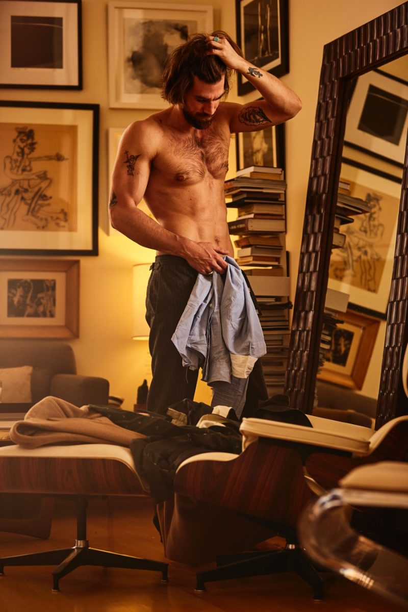 Taking his picks from a Polo Ralph Lauren wardrobe, Henrik Fallenius prepares for the day ahead.