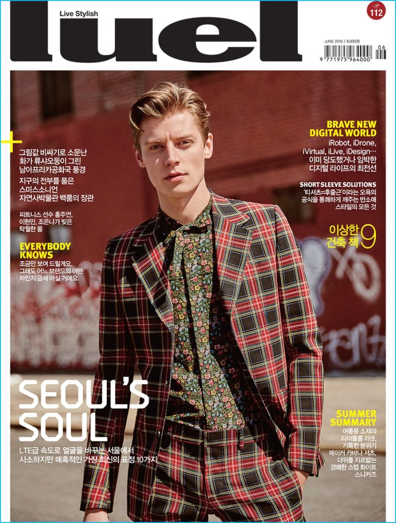 Model Janis Ancens covers Luel magazine in a pre-fall 2016 look from Gucci.