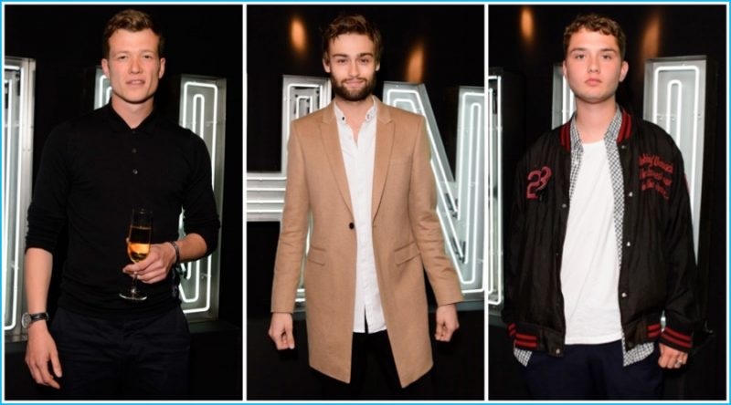 Harvey Nichols Launch (Pictured Left to Right): Ed Speleers, Douglas Booth and Rafferty Law