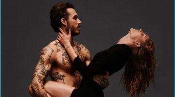 David Alexander Flinn Bares Tattoos for Jimmy Choo Pre-Fall Campaign