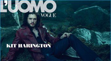 Kit Harington Covers L'Uomo Vogue, Talks Big Jon Snow Secret