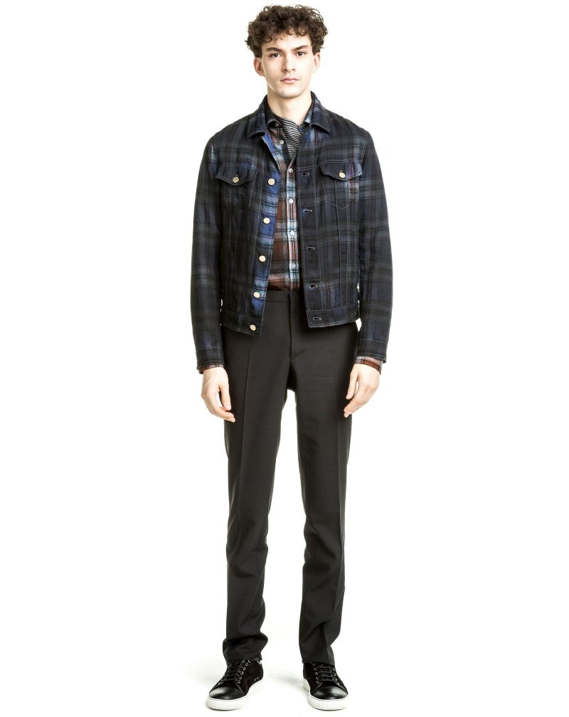 Lanvin Pre-Fall 2016 Over-dyed Check Trucker Jacket