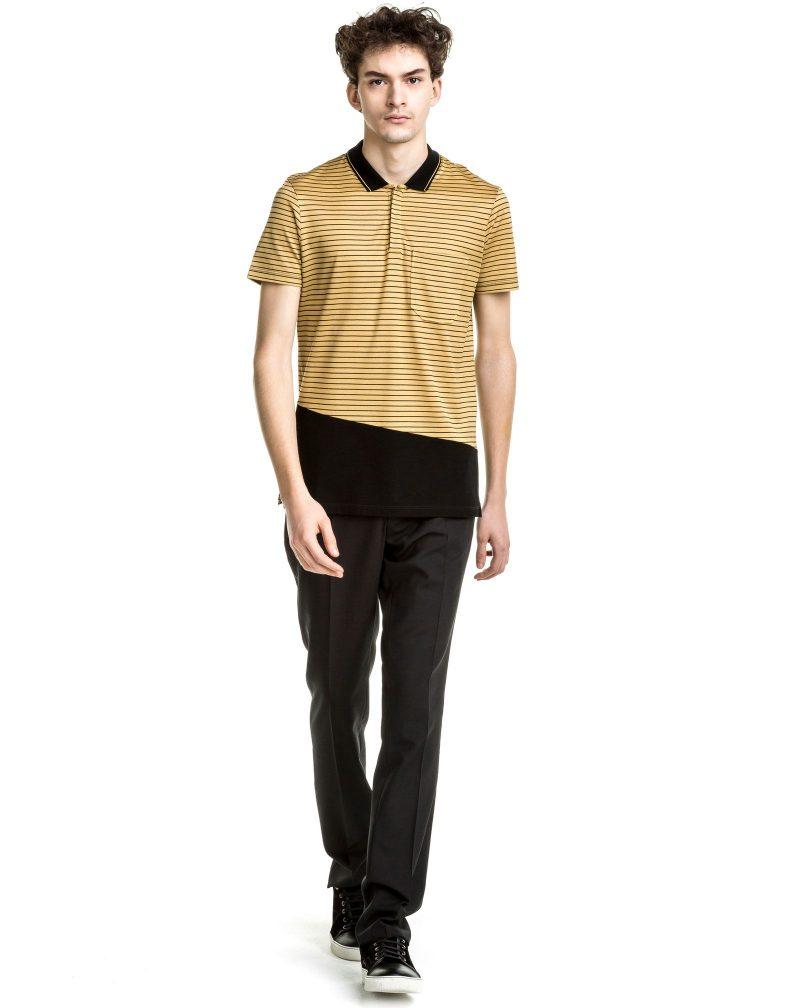 Lanvin Pre-Fall 2016 Striped Slim-Fit Polo Shirt