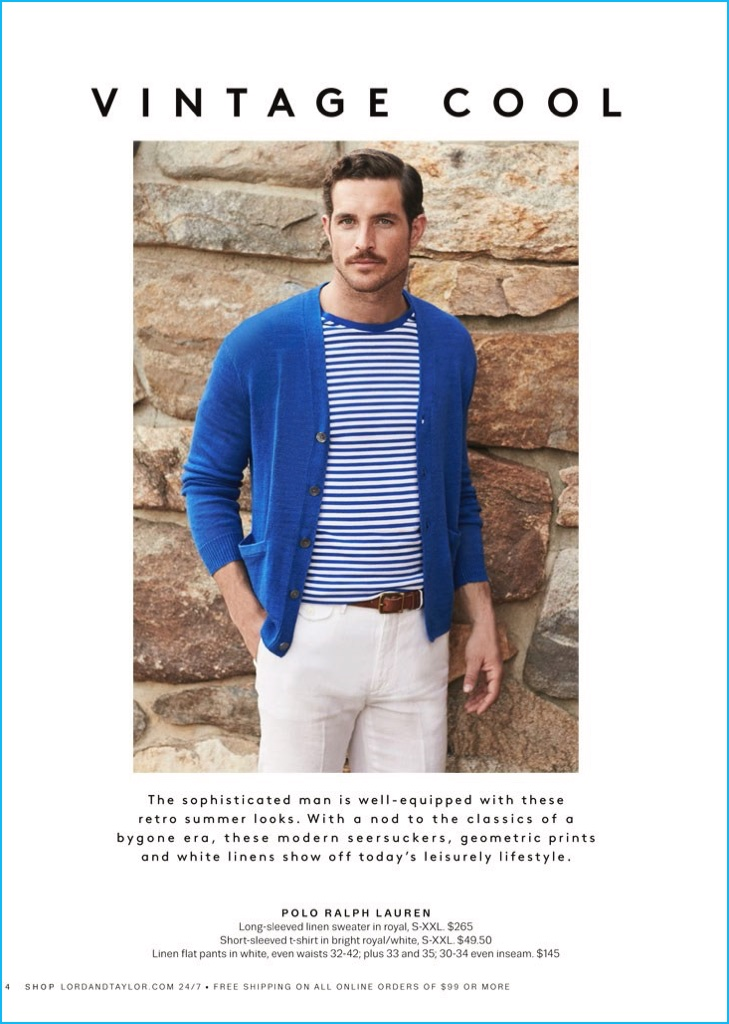 Justice Joslin Embraces A Vintage Cool In Polo Ralph Lauren