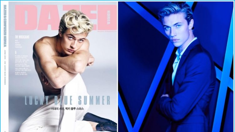 Lucky Blue Smith Covers Dazed Korea, Attends L'Oréal Paris Blue Obsession Party