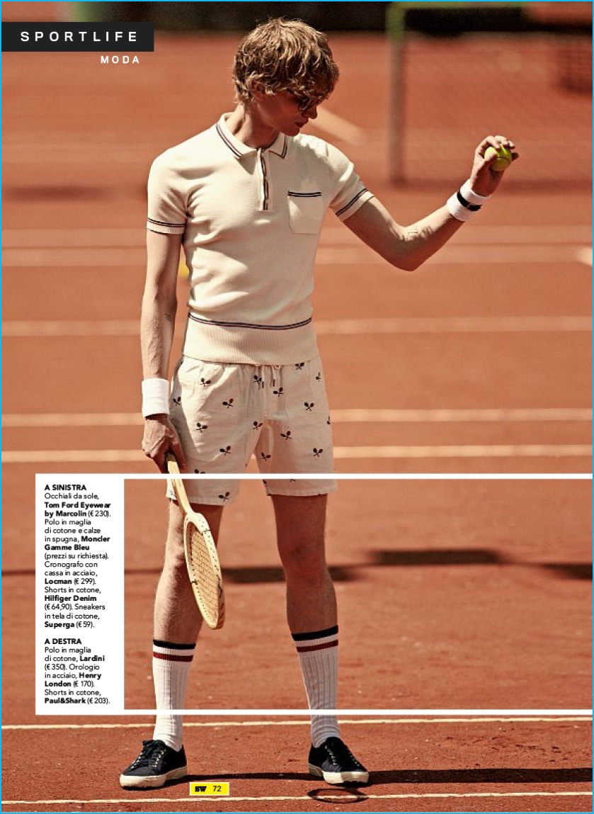 Sportweek Delivers Tennis Inspired Fashions The Fashionisto