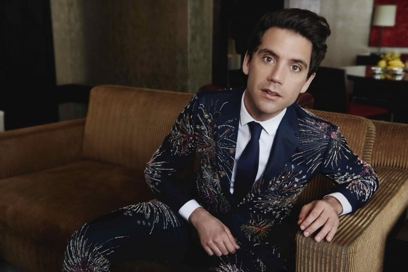 Mika pictured in Valentino for the pages of Prestige Hong Kong.
