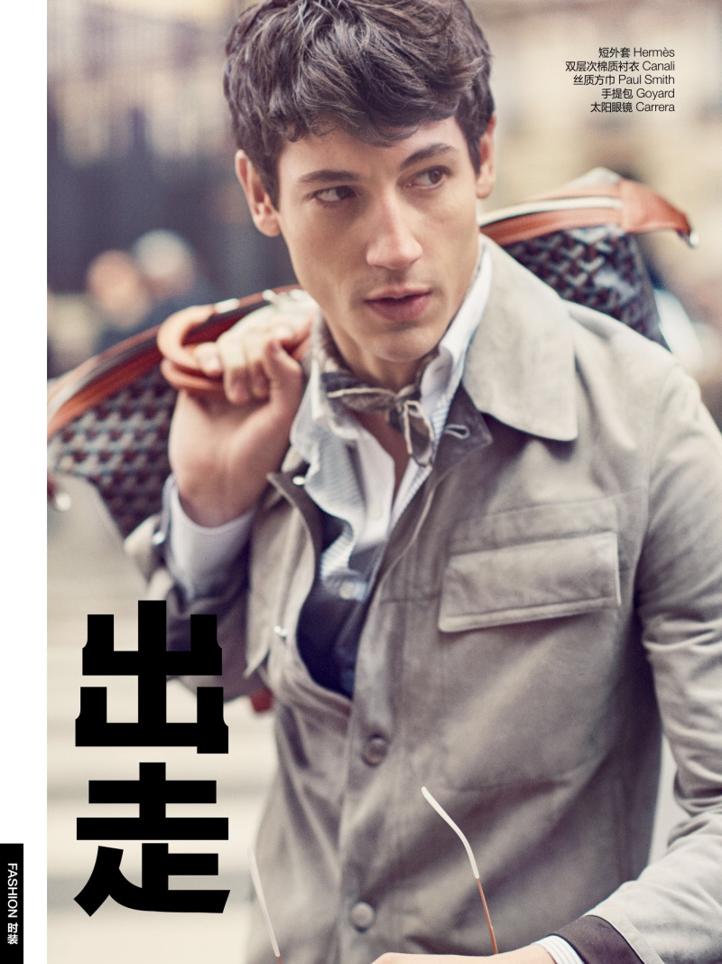 Departure: Nicolas Ripoll Dons Tailored Neutrals for GQ China