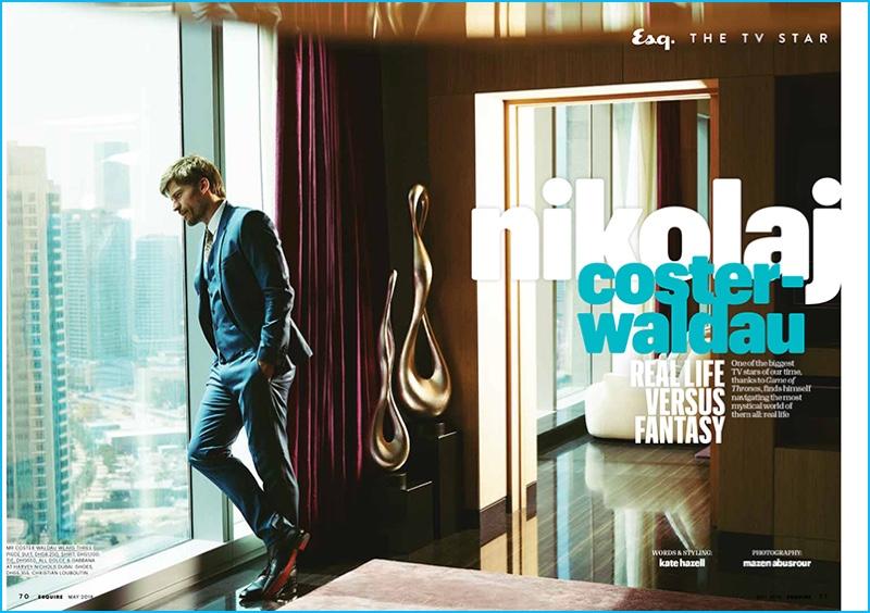 Nikolaj Coster-Waldau photographed by Mazen Abusrour for Esquire Middle East.