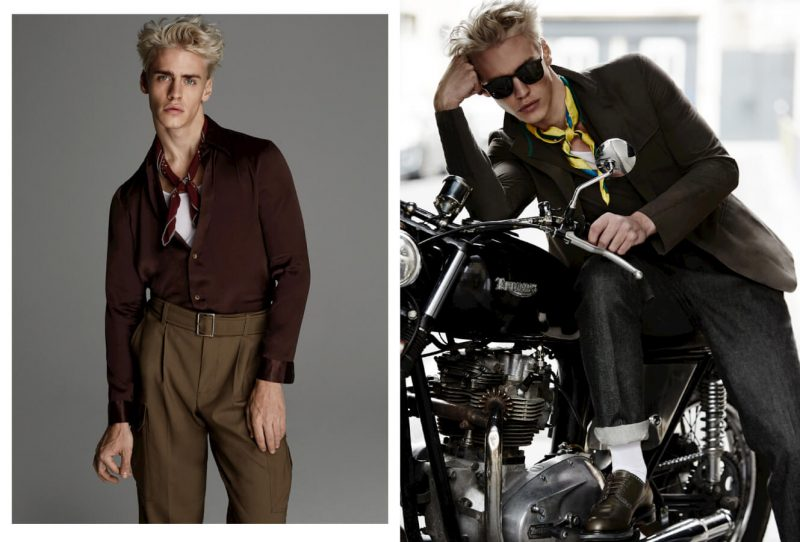 Styled by Jacky Tam, Oliver Stummvoll dons chic neckties for his GQ China editorial.