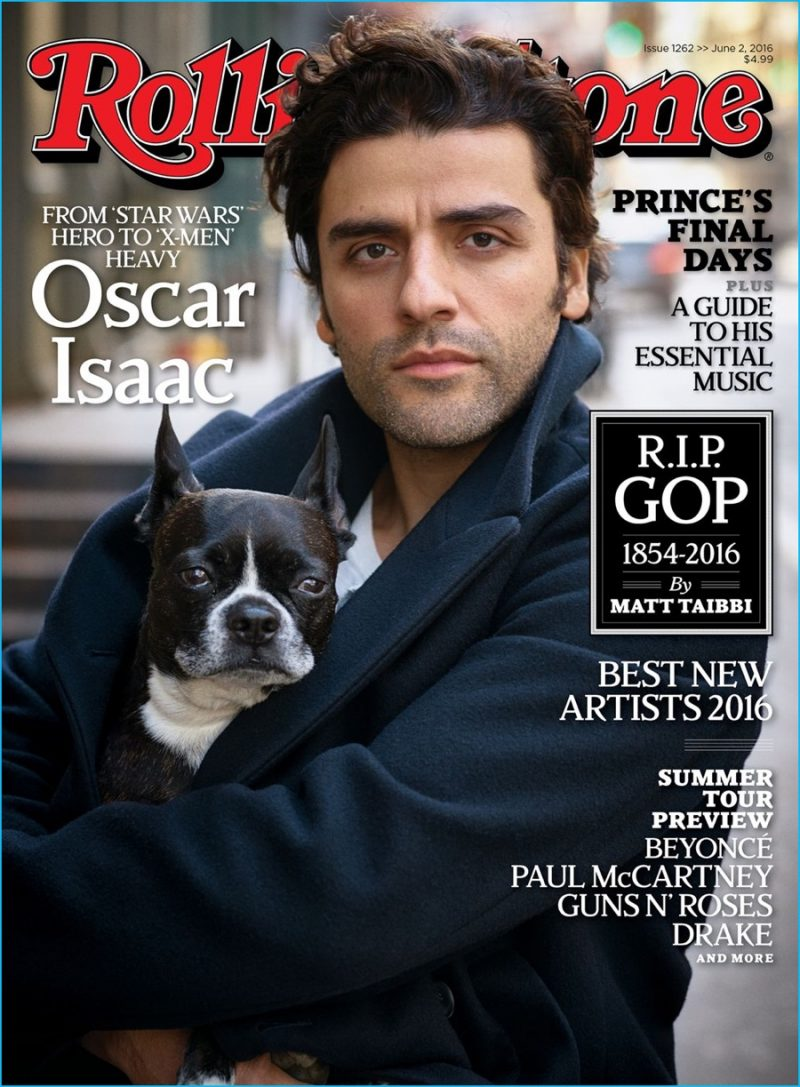 Oscar Isaac covers the most recent issue of Rolling Stone.