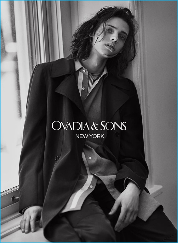 Erin Mommsen is front and center in relaxed tailoring from Ovadia & Sons.