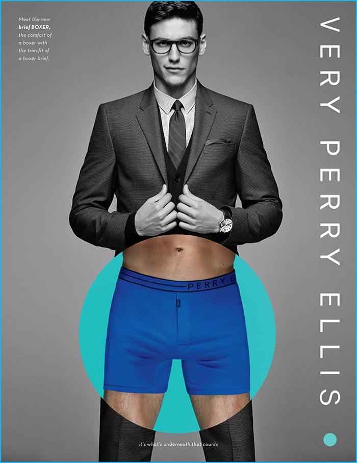 Mariano Ontañon fronts Perry Ellis' underwear campaign.