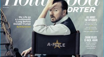 Ricky Gervais Covers The Hollywood Reporter, Talks Donald Trump