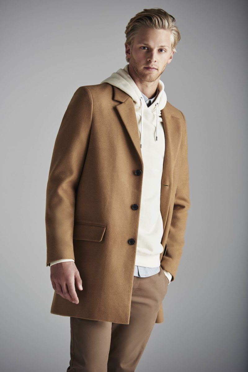 River Island embraces the classic camel coat for a neutral hued fall look.