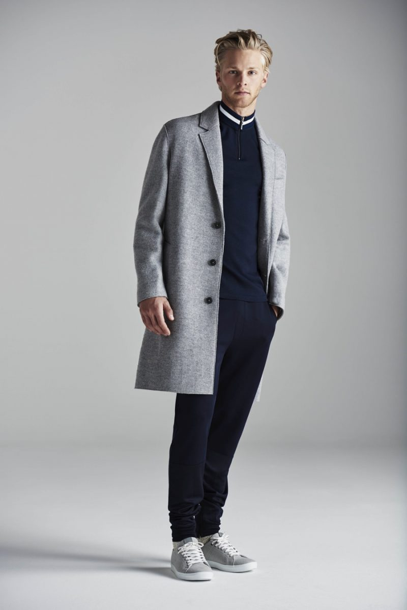 River Island goes sporty, juxtaposing oversized tailoring with the modern leisure suit.