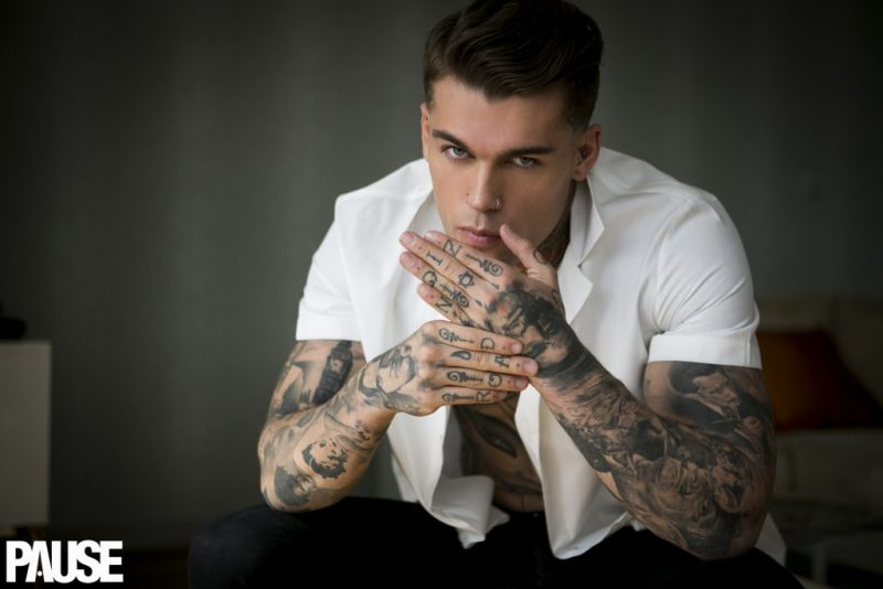 Stephen James photographed by Benjamin Glean for Pause magazine.