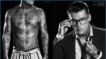 Stephen James Bares Tattoos for Vision 3.0 Cover Shoot