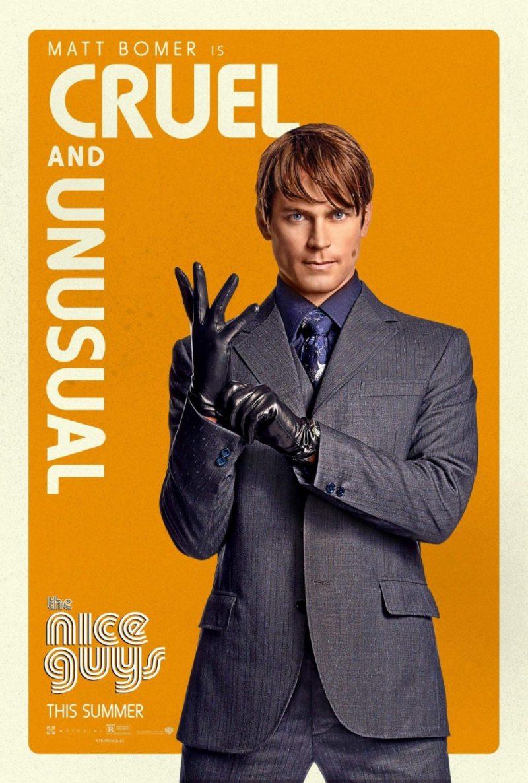 Matt Bomer as John Boy for The Nice Guys movie poster artwork.