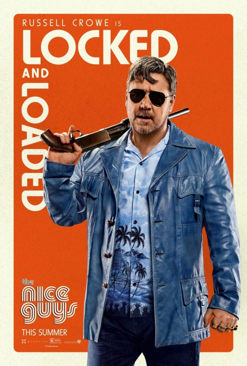 Russell Crowe as Jackson Healy for The Nice Guys movie poster artwork.