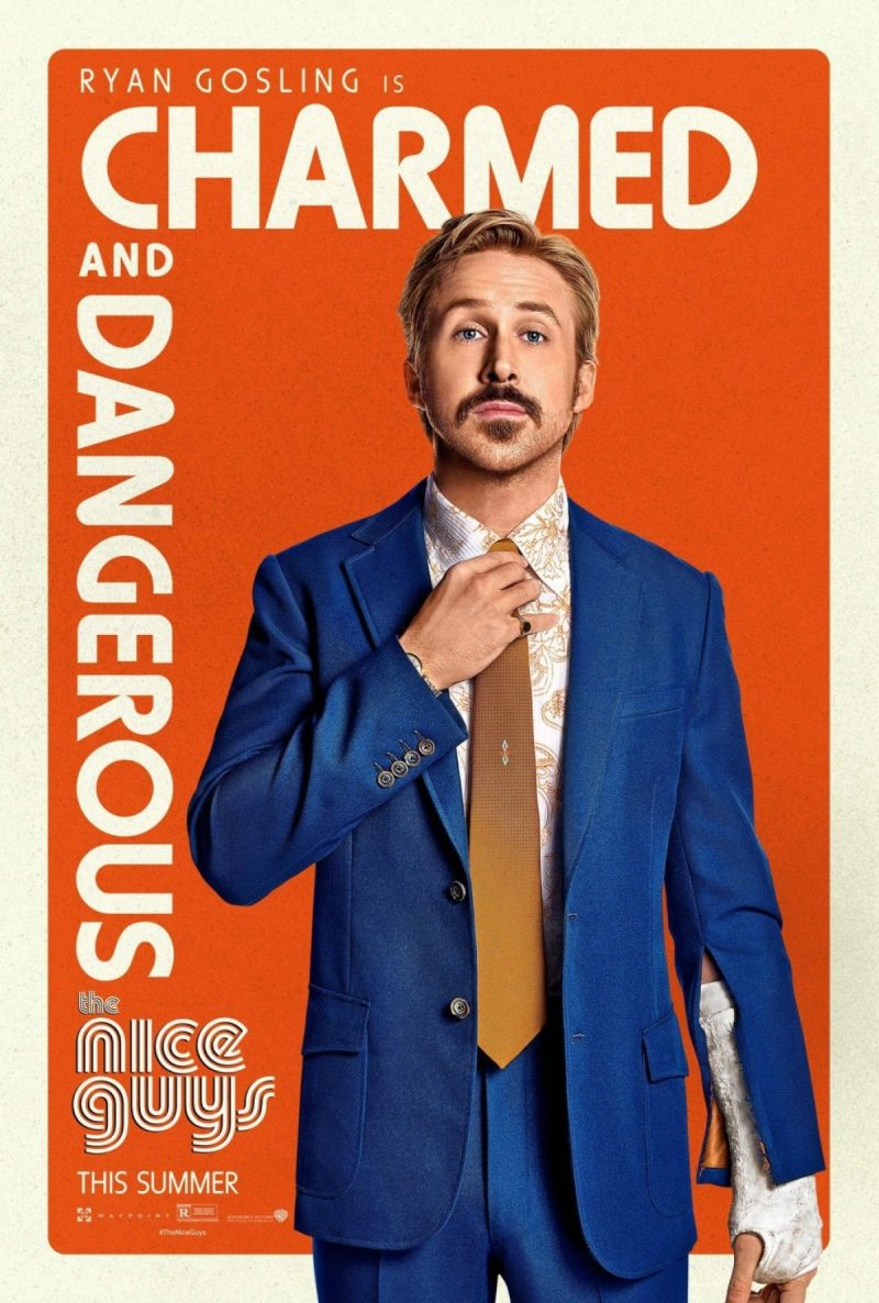 Ryan Gosling as Holland March for The Nice Guys movie poster artwork.