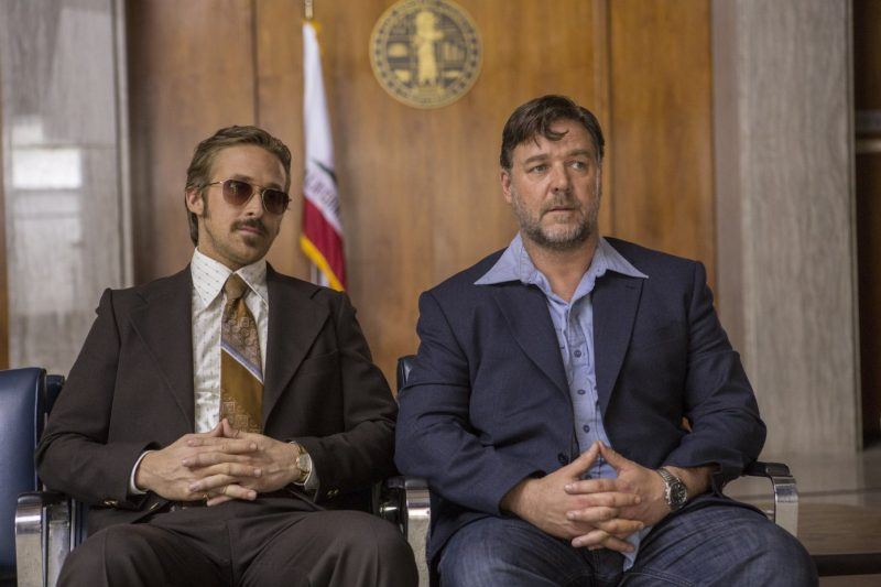Ryan Gosling and Russell Crowe suit up for The Nice Guys.