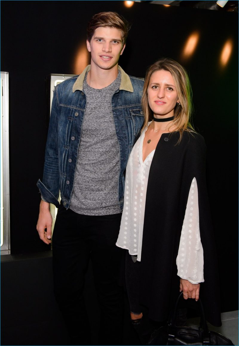Toby Huntington-Whiteley attends Harvey Nichols' launch party.