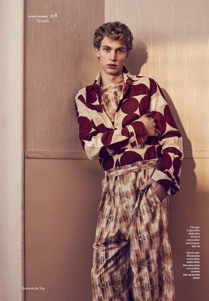 Robbi G is anything but a wallflower in a Boglioli linen shirt with Siki Im trousers.