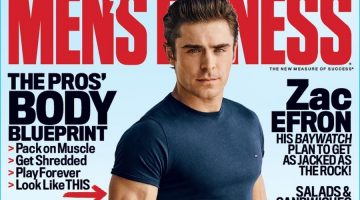 Zac Efron Covers Men's Fitness, Dishes on Diet & Fitness Goals
