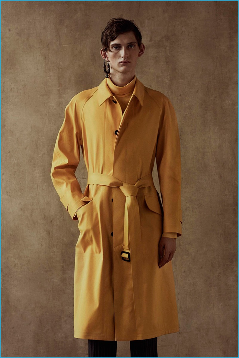 A bold splash of yellow represents Alexander McQueen's reference to Indian culture.
