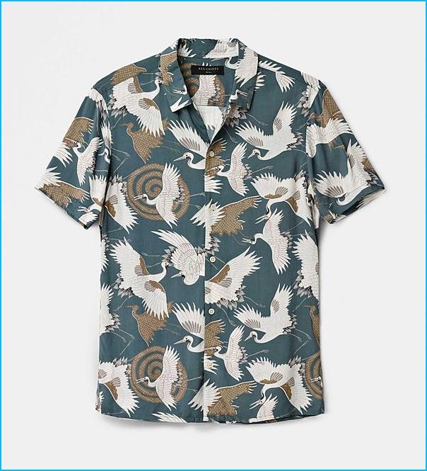 AllSaints Tsuru Hawaiian Shirt