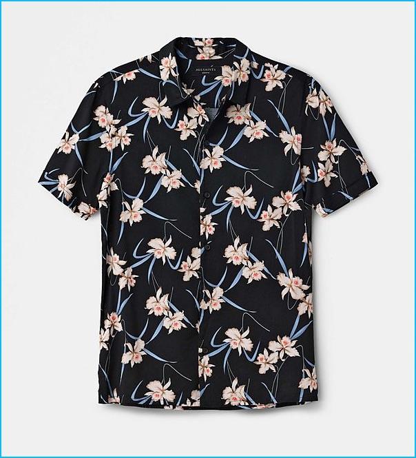 AllSaints Aaru Hawaiian Shirt