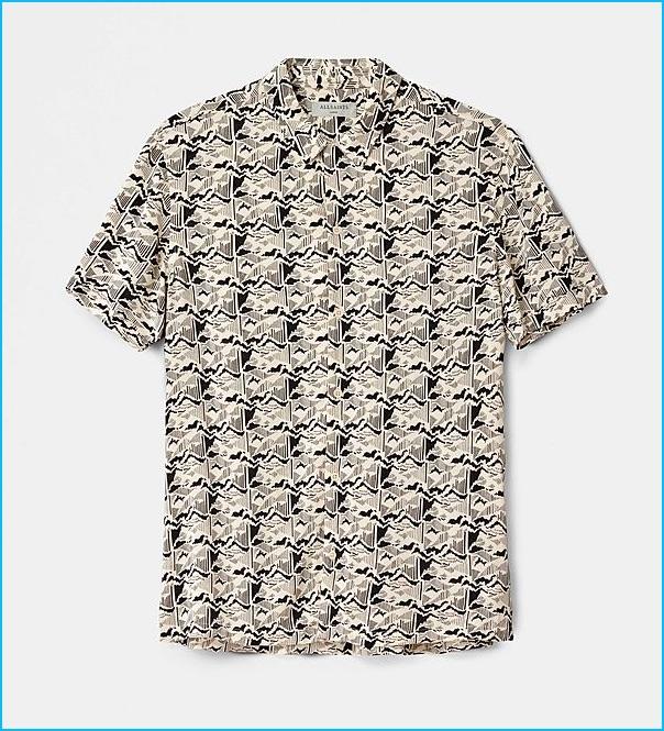 AllSaints Tumalo Hawaiian Shirt
