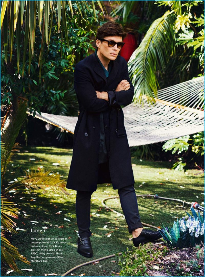 Cillian Murphy is a chic vision in a Lanvin coat.