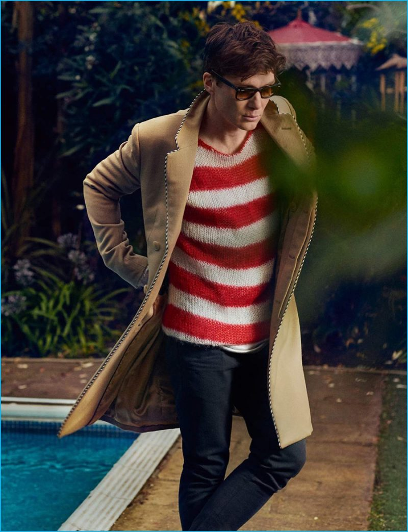 Cillian Murphy channels a retro spirit in Gucci's camel coat.