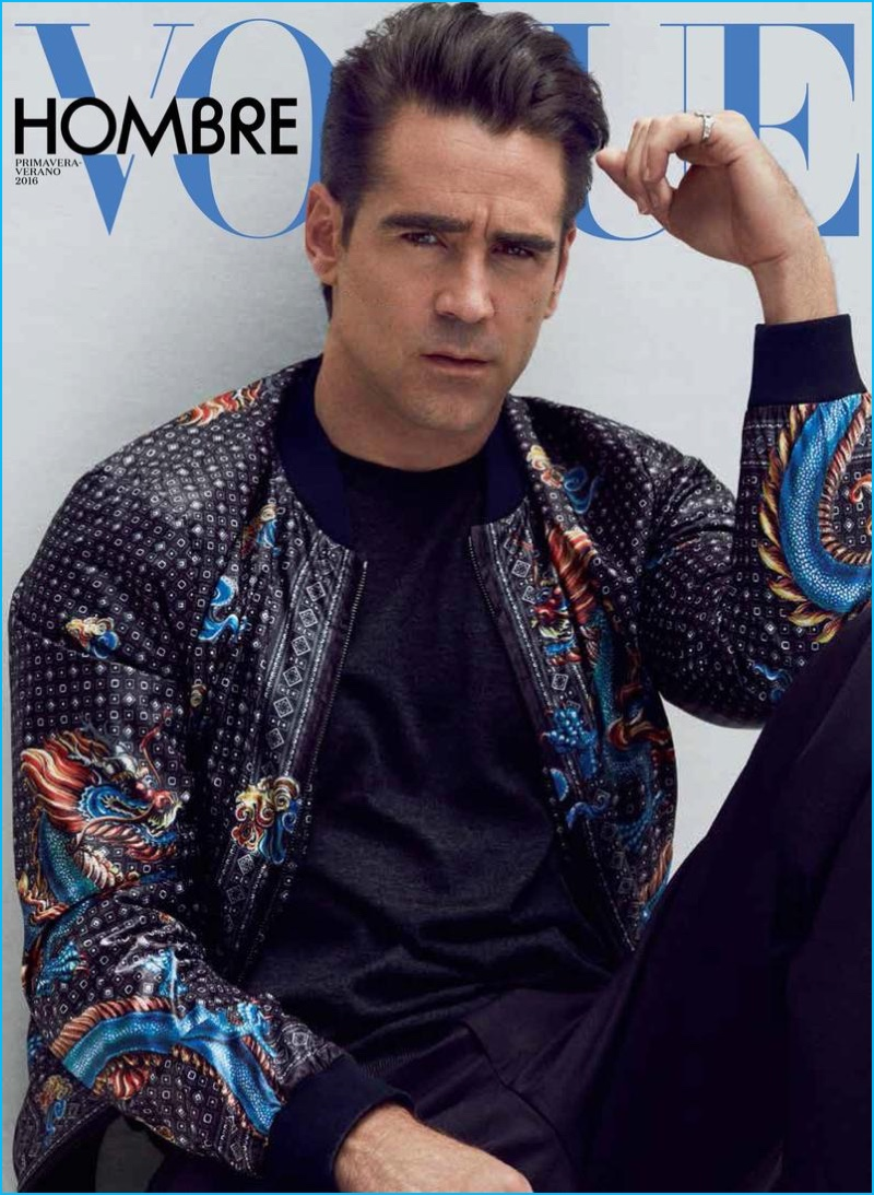 Colin Farrell photographed by Hunter & Gatti for the cover of Vogue Hombre.