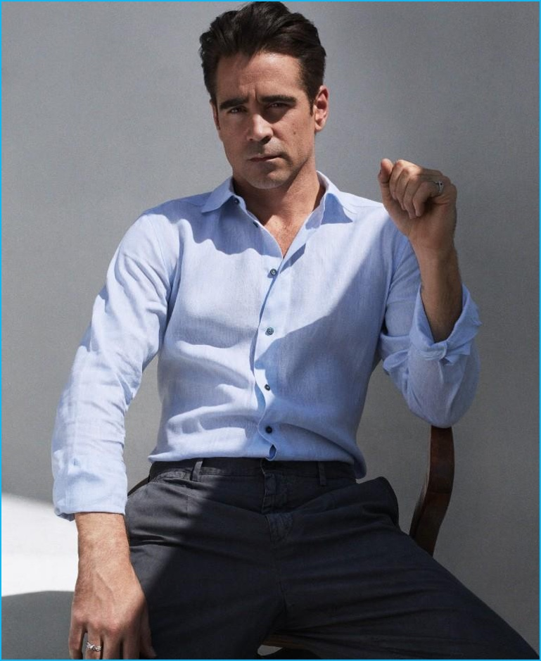 Colin Farrell photographed by Hunter & Gatti in Dolce & Gabbana for Vogue Hombre.
