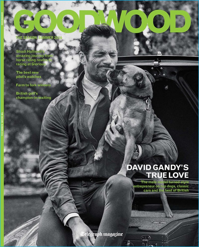 David Gandy covers the summer 2016 edition of Telegraph magazine supplement Goodwood.