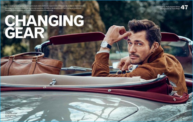 David Gandy photographed by Tomo Brejc for Telegraph magazine's Goodwood supplement.