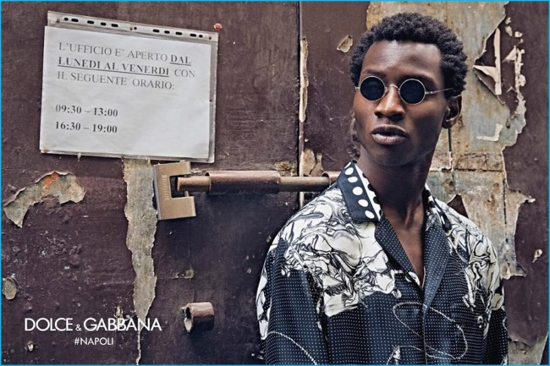 6ad89ac6d8ab Adonis Bosso stars in Dolce   Gabbana s fall-winter 2016 eyewear campaign.