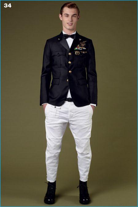 Dsquared2 Champions Black & White Fashions for Pre-Fall