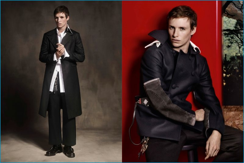 Eddie Redmayne takes up the starring role in Prada's fall-winter 2016 advertising campaign.