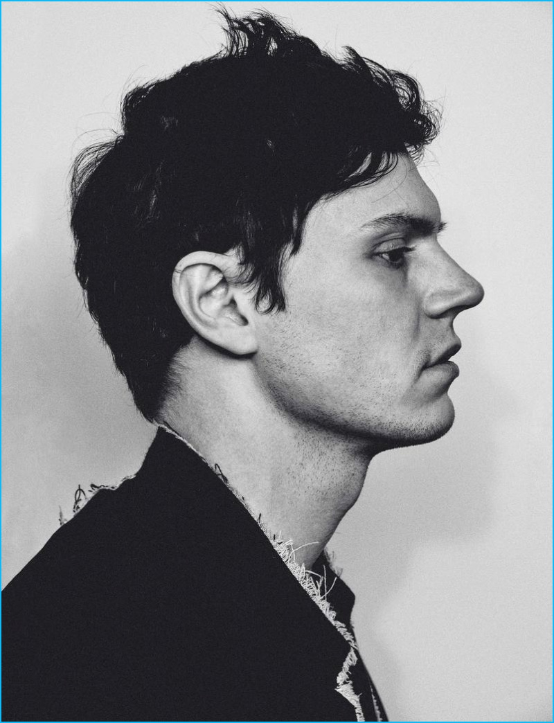 Evan Peters photographed by Chris Colls for HERO magazine.