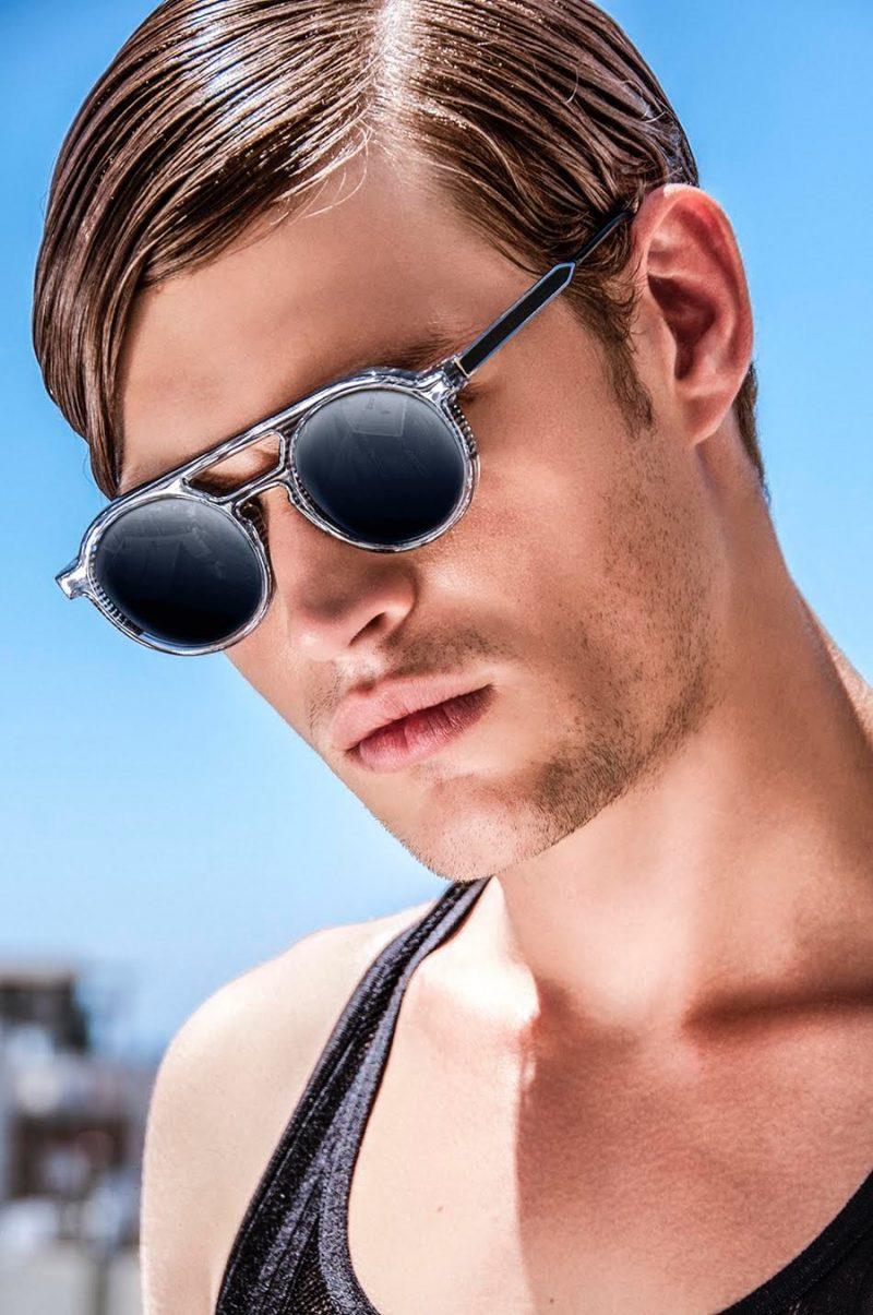 Louren wears sunglasses Thierry Lasry and tank Calvin Klein.