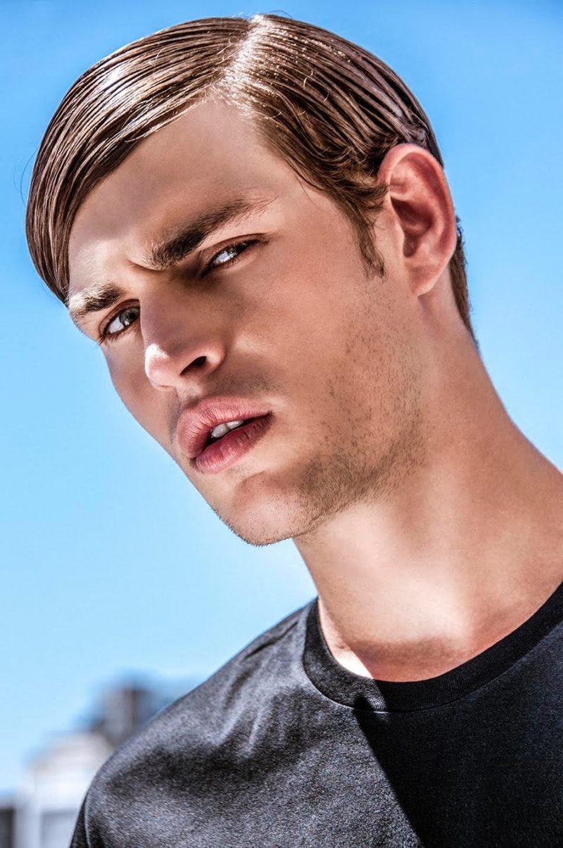 Louren wears t-shirt Dior Homme.