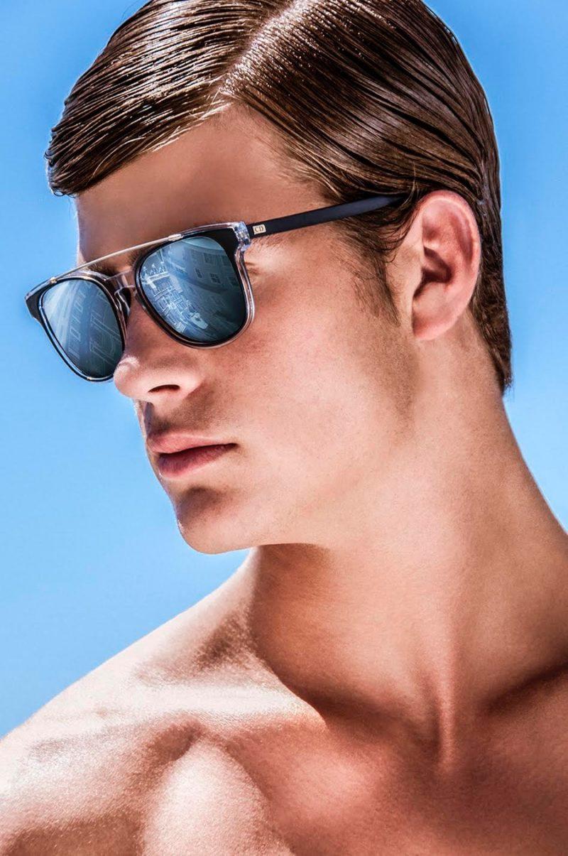 Zandre wears sunglasses Christian Dior.