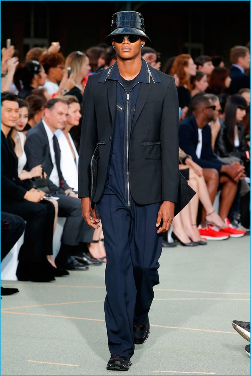 Givenchy does the jumpsuit for spring-summer 2017.