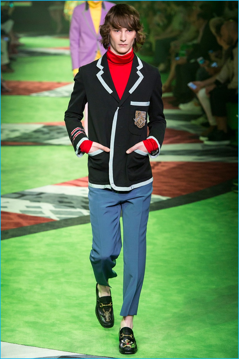 21a000576b9 Gucci serves up an iconic crest jacket as part of its spring-summer 2017  collection