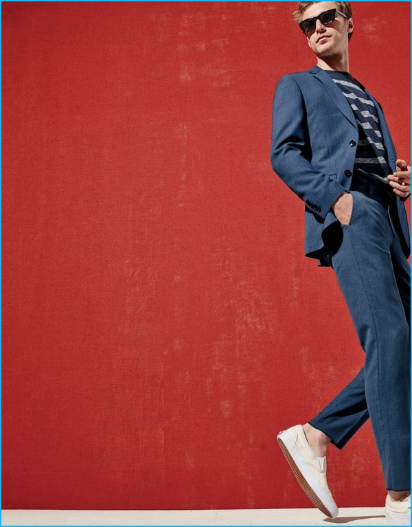 Mango Man 2016 Suiting Style Guide Relaxed Baptiste Radufe Wears The Tropez Suit