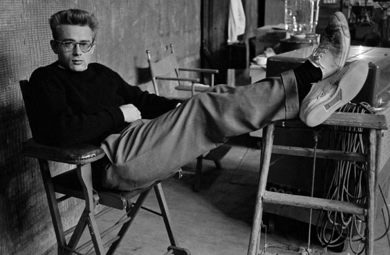 Hollywood legend James Dean pictured in Jack Purcell sneakers.